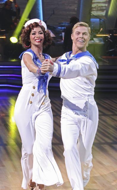 Nicole and Derek Hough