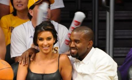 Kim Kardashian and Kanye West: 2012 NBA Playoffs