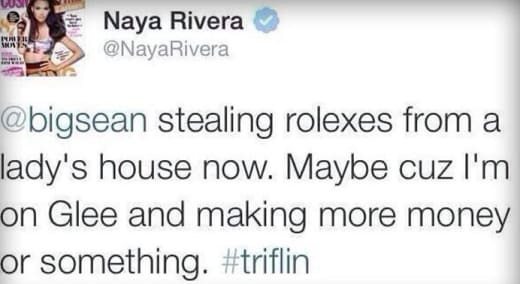 Naya Rivera Tweet
