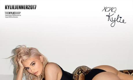 Kylie Jenner with a Snake