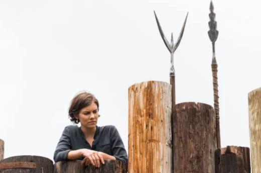 Maggie Searches for Safety on The Walking Dead