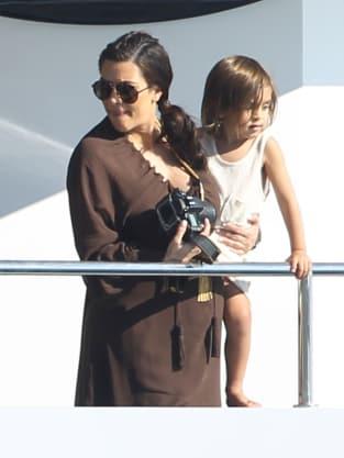 Kim Kardashian with Mason