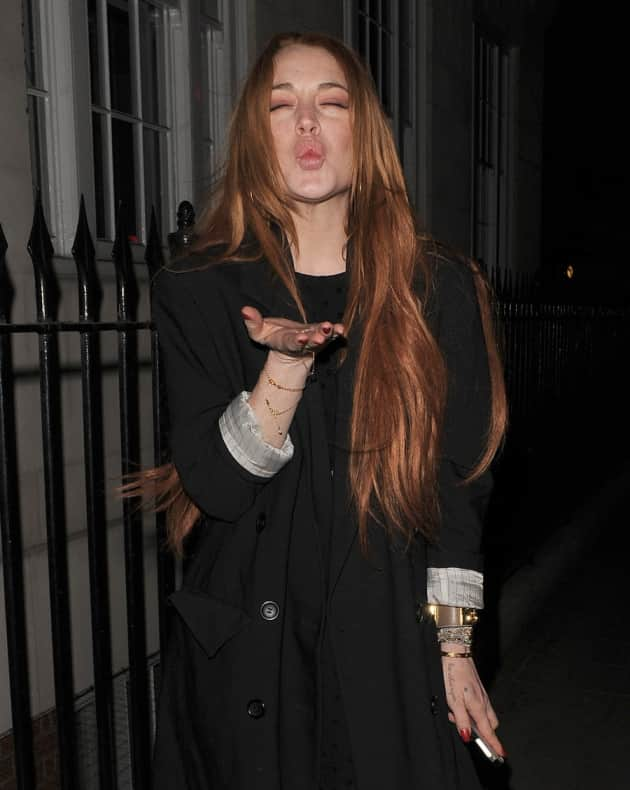 Lindsay Lohan Clubbing In London