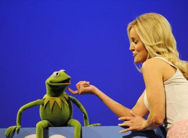 Emily Maynard and Kermit the Frog