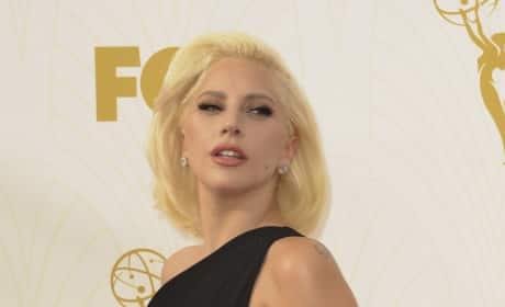Lady Gaga at the 2015 Emmys