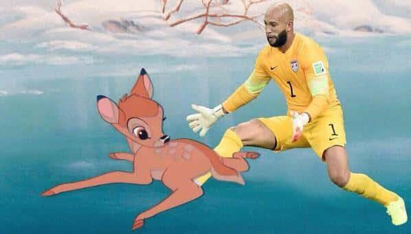 Tim Howard Saves Bambi
