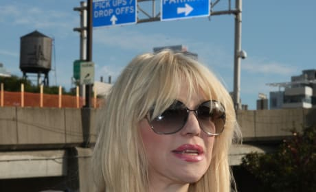 Courtney Love on the Street