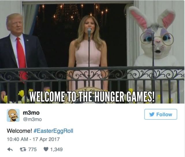 Melania trump as effie trinket