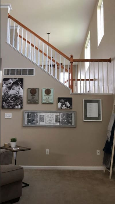 Living room and upstairs