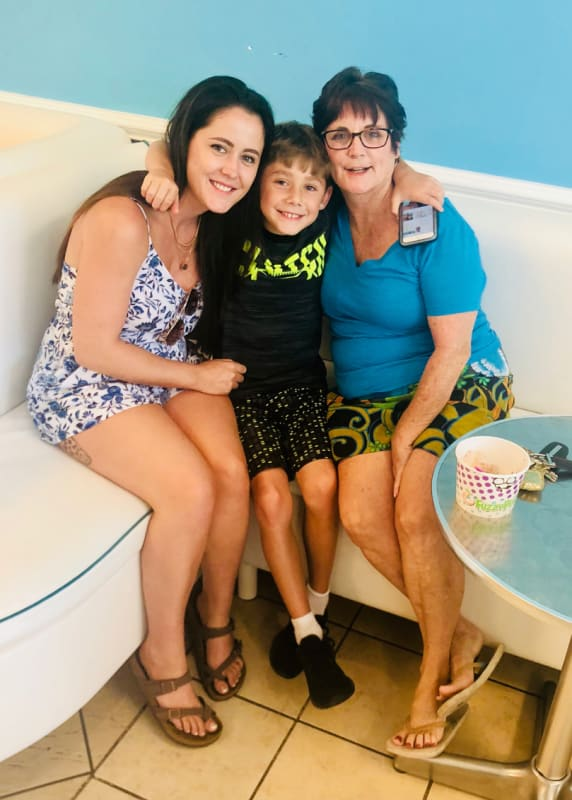Jenelle with jace and barbara