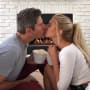 Arie Luyendyk Jr. and Lauren Burnham Kiss Pic