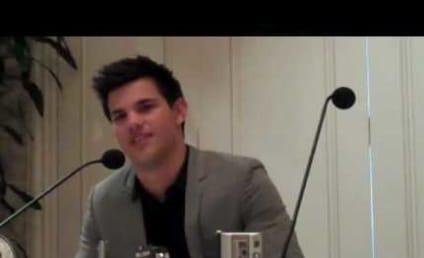 Kristen Stewart on Kissing Taylor Lautner: Weird!