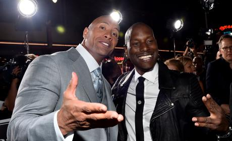 Dwayne Johnson and Tyrese