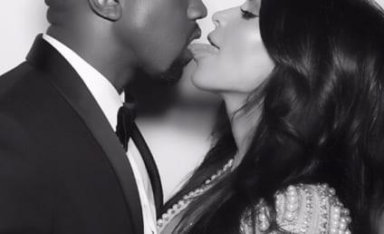 Kim Kardashian French Kisses Kanye, Celebrates Anniversary