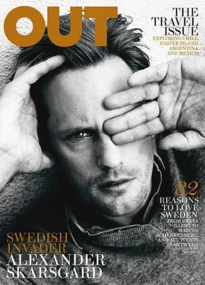 Alexander Skarsgård Out Magazine Cover