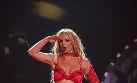 Britney Spears Dazzles in Red at the Planet Hollywood Resort & Casino in Las Vegas