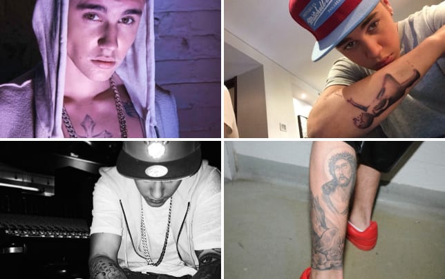 Justin bieber chest tattoo