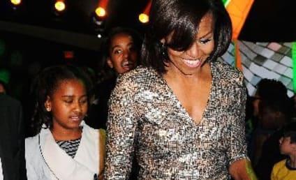 Michelle, Sasha and Malia Obama Attend Beyonce Concert