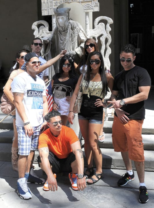 Jersey Shore Cast in Italy