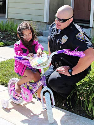 Officer Replaces Girl's Bike