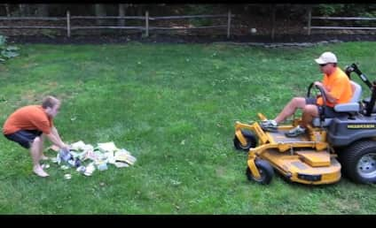 Father Runs Over Son's Video Games with a Lawn Mower