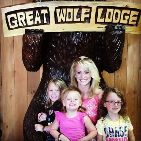 Leah Messer ar Great Wolf Lodge
