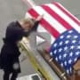 Army Widow Cries Casket, Brings Facebook Together