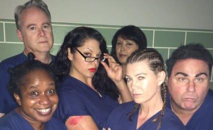 Ellen Pompeo on Grey's Anatomy Set: Blue is the New Black!