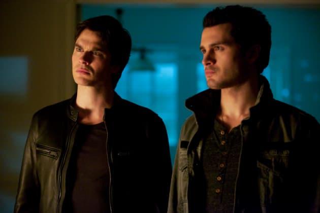 Damon with Enzo