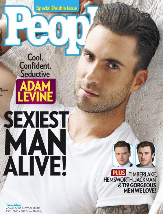 Adam Levine: Sexiest Man Live Cover