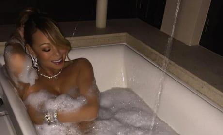 Mariah Carey: Nude in a Bathtub