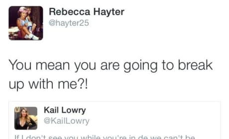 Becky Hayter to Kailyn Lowry Tweet