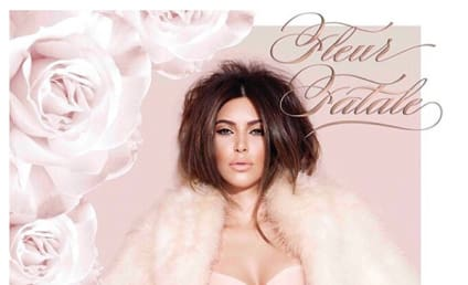 Kim Kardashian: Klad in Lingerie for New Perfume Ad