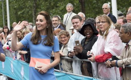 The Duchess of Cambridge Greets Guests During 'The Patron's Lunch'