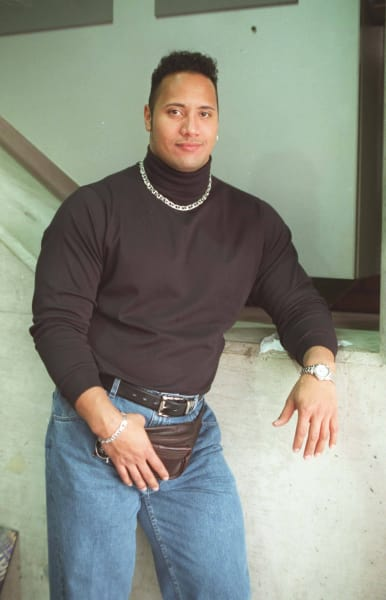 The Rock Throwback Photo