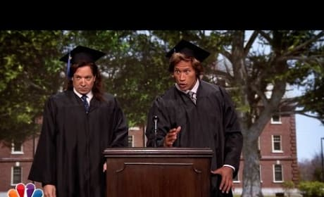Jimmy Fallon and Dwayne Johnson Give 1989 Commencement Speech