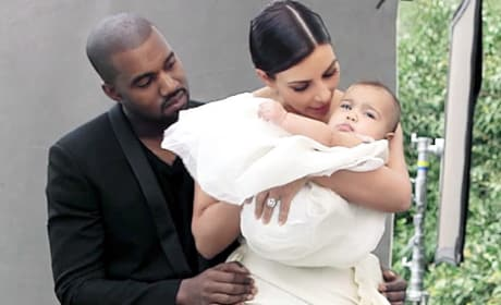 Kanye, Kim and North for Vogue