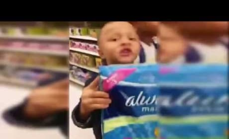 Little Boy Has a Question About Maxi Pads