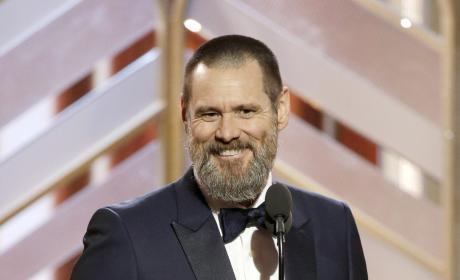 Jim Carrey at the Golden Globes