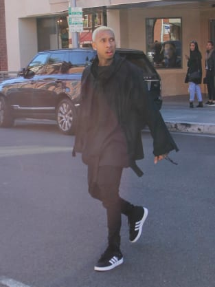 Tyga leaving a building in Beverly Hills