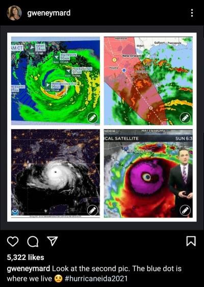Gwen Eymard IG forecast for Ida