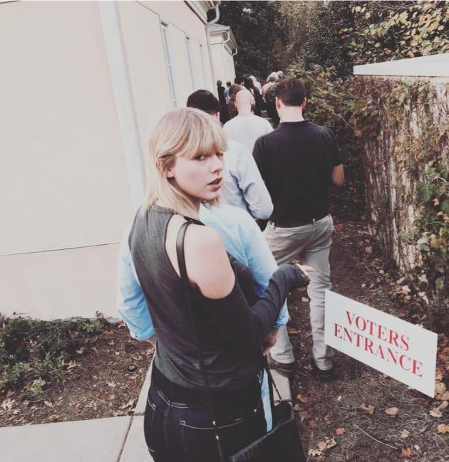 Taylor Swift Votes!