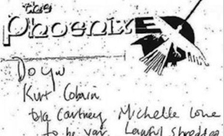 Kurt Cobain Suicide Note