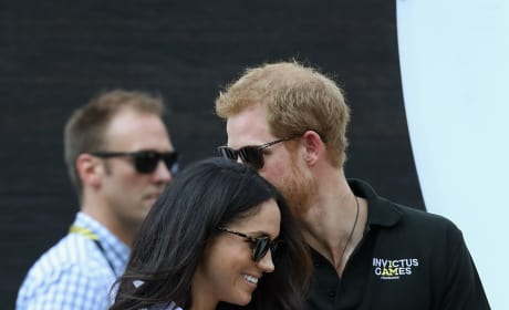 Prince Harry Kisses Meghan Markle