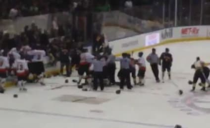 NYPD, FDNY Fight During Charity Hockey Game: Watch!