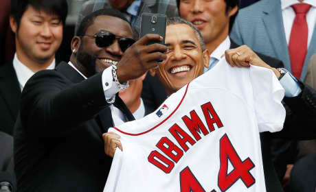 David Ortiz-Barack Obama Selfie