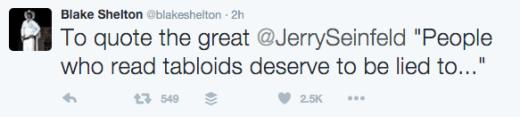 Blake Shelton Tweets Response to Wedding Rumors 4