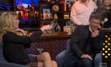 Brandi Glanville Throws Wine at Jeff Lewis, Breaks Down in Tears on Watch What Happens Live