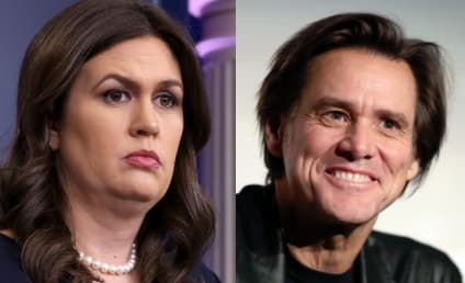 Jim Carrey Unveils VERY Unflattering Painting of Sarah Huckabee Sanders