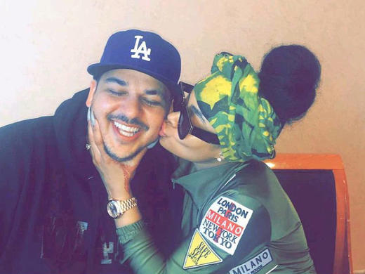 Blac Chyna Kissing Rob Kardashian